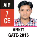 Peeyush Kr. Shrivastav, GATE 2016, RANK 7